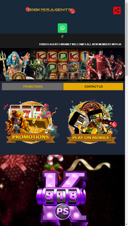 mobile view 918Kiss Free Live Casino Games in Malaysia | 918Kiss Agents