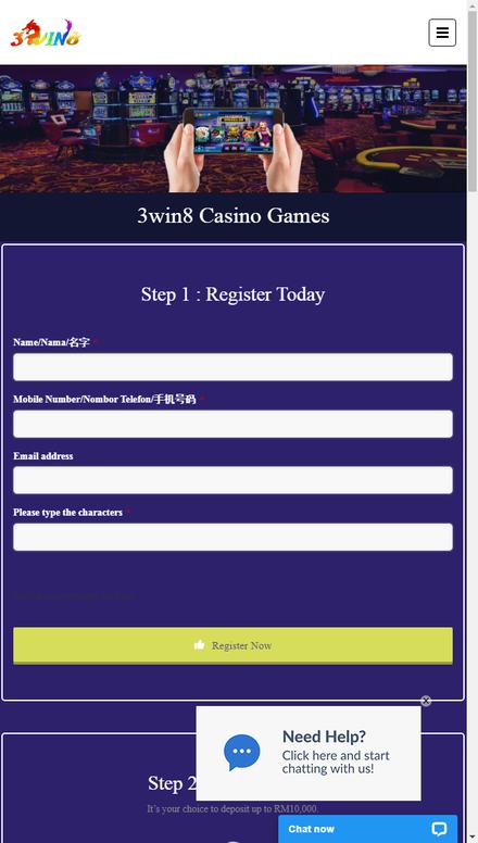 mobile view Best 3win8 Casino game | Register & Download 3win8